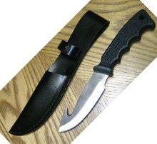couteau de chasse naturmania avec lame fixe et crochet a depecer