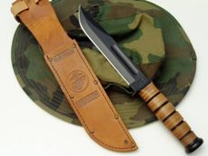 Kabar 1217 USMC couteau de survie lame etuie et chapeau